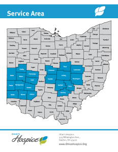 Ohio's Hospice Service Area Central and SouthWestern Ohio