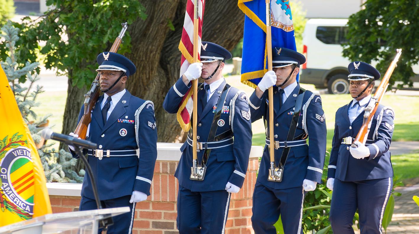 Fallen Heroes Honored At American Pride Veteran Memorial On Ohio's Hospice Of Dayton Campus