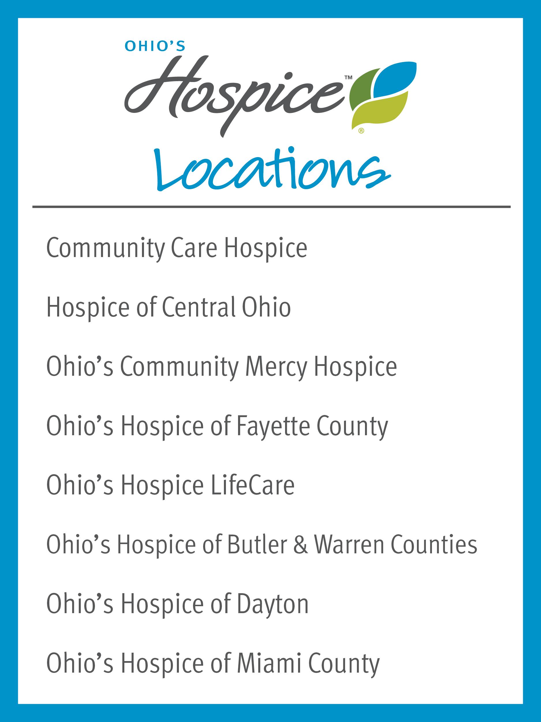Ohio's Hospice locations