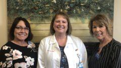 Dana Weatherspoon, SpringMeade Health Center Director of Nursing; Holly Long, ICS Palliative Care APN; and Kathie Schlereth, Koester Pavilion Director of Nursing.