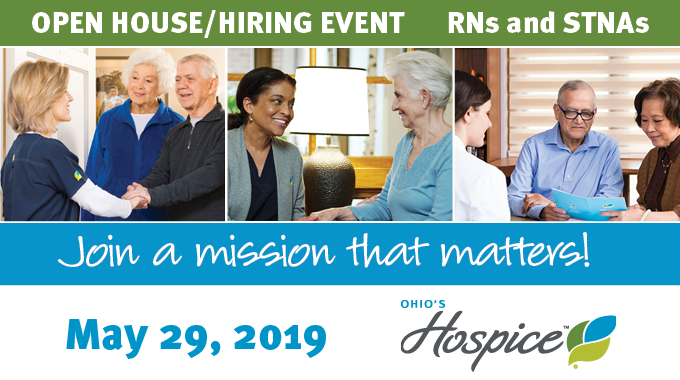 Ohio's Hospice To Host Open House/Hiring Event For RNs And STNAs On May 29