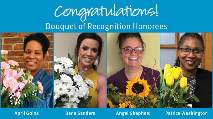 Staff Recognized With Bouquet Of Recognition Awards