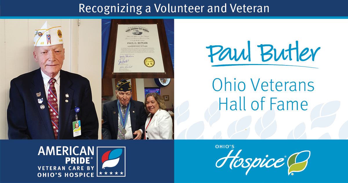 Ohio's Hospice Volunteer Inducted Into Ohio Veterans Hall Of Fame