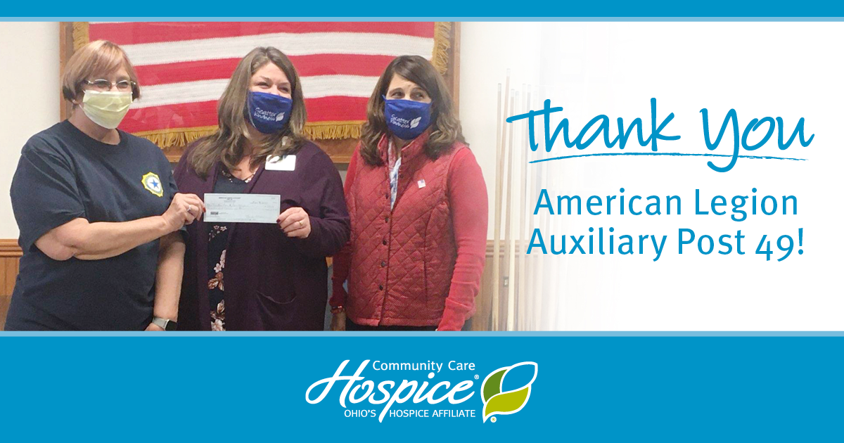Thank You American Legion Auxiliary Post 49!