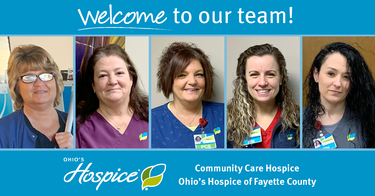 Welcome To Our Team! - Ohio's Hospice