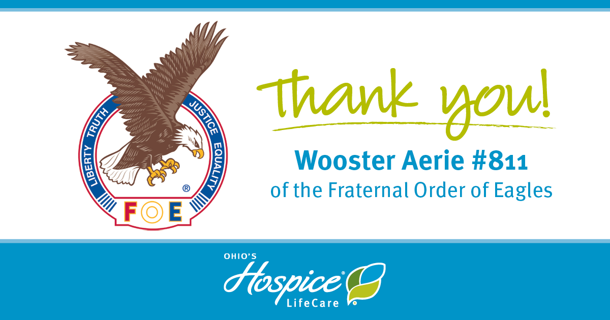 Thank You! Wooster Aerie #811 Of The Fraternal Order Of Eagles