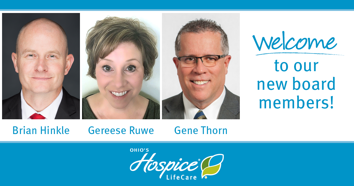 Welcome To Our New Board Members! - Ohio's Hospice LifeCare