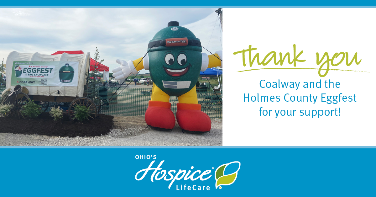 Thank You To Coalway And The Holmes County Eggfest For Your Support! - Ohio's Hospice LifeCare