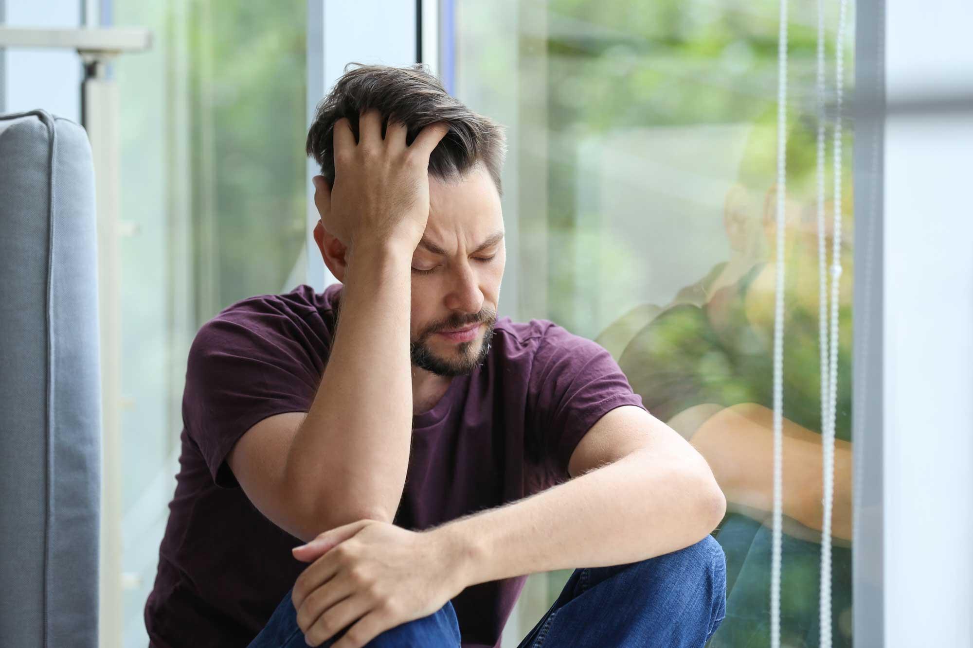 grief depressed man