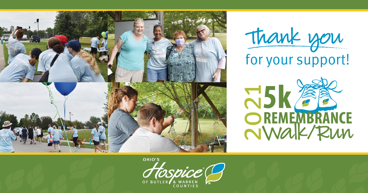 Thank You For Your Support! - Ohio's Hospice Of Butler & Warren Counties